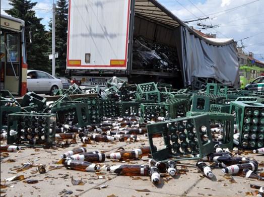 Выпрыгнувший из грузовика тигр создал пробку на трассе 3