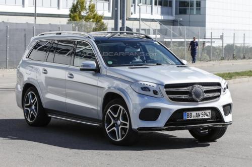 СМИ впервые заметили 2016 Mercedes-Benz GLS  7