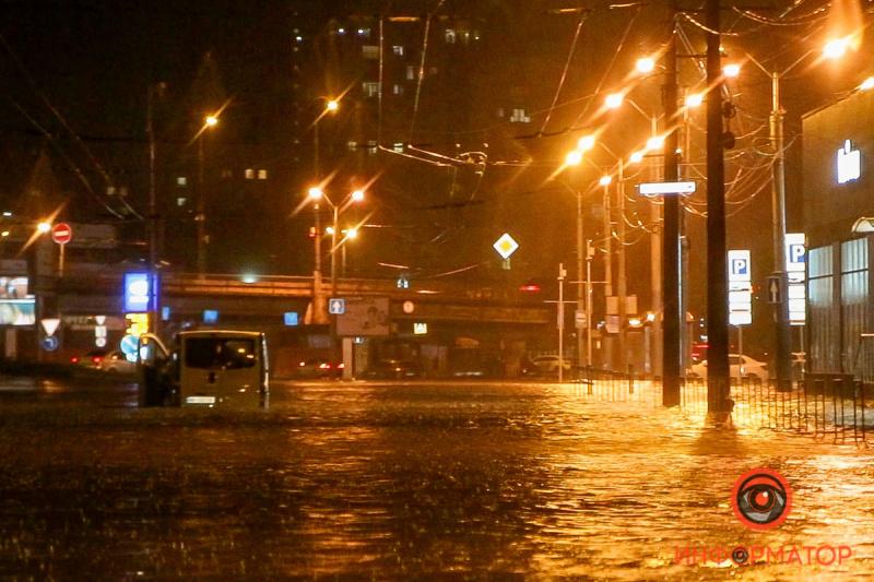 Ливень затопил улицы Днепра 2