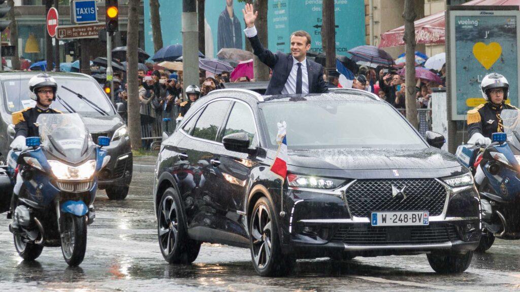 В Киеве заметили вероятный кортеж президента Франции (видео) 1