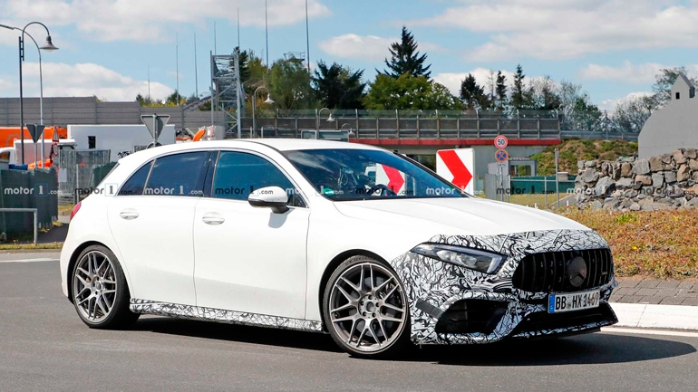 Новый Mercedes-AMG A45 замечен на тестах