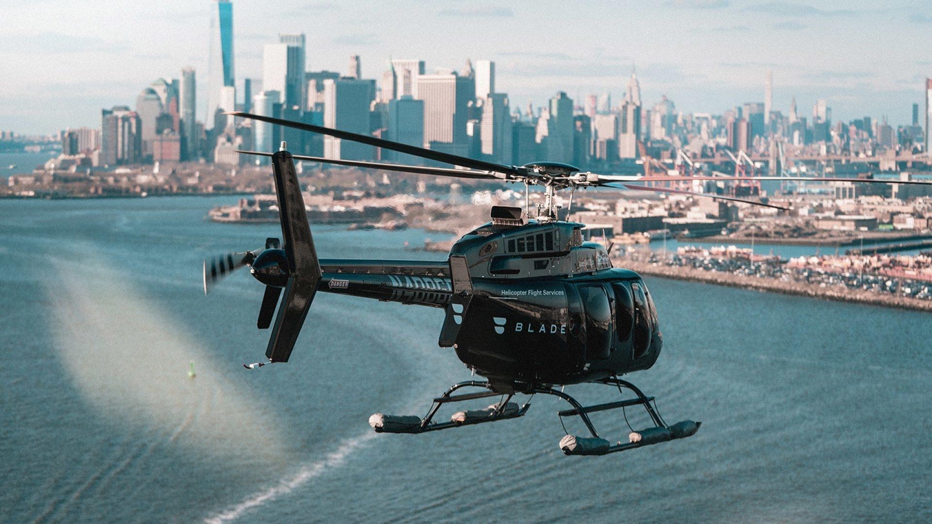 В Нью-Йорке появились настоящие летающие такси