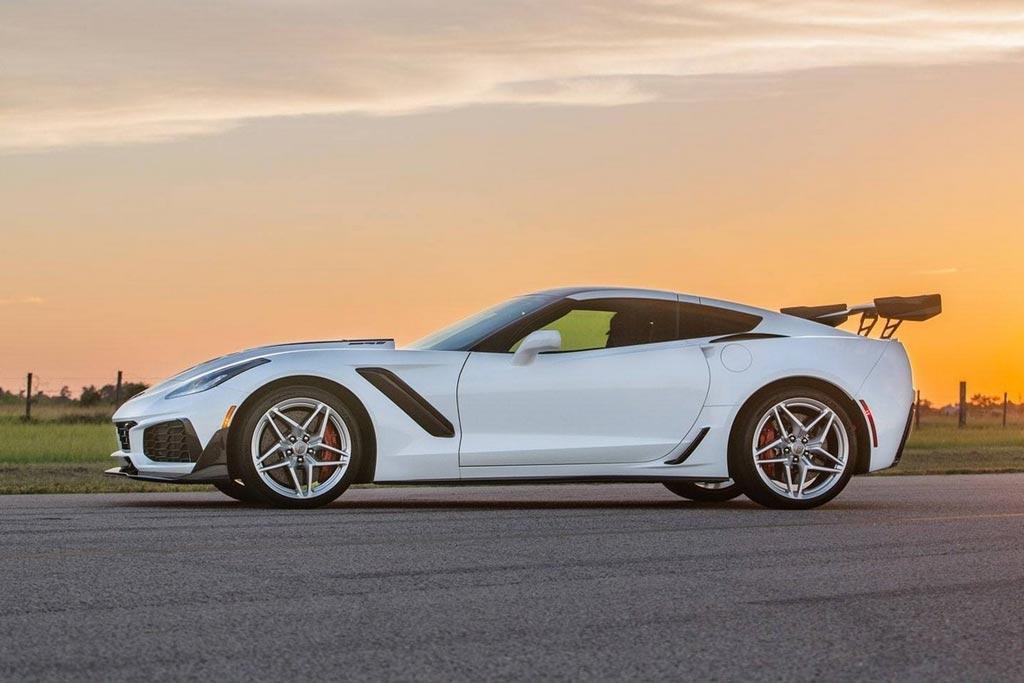 В ателье Hennessey подготовили 1200-сильный Corvette ZR1