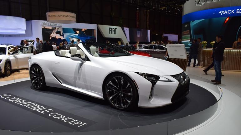 Lexus показал в Женеве концепт нового LC Convertible