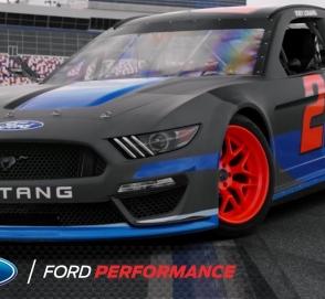 Яркий Ford Mustang для гоночной серии NASCAR зажег на треке
