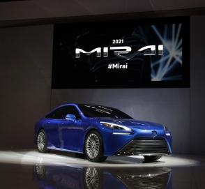 В Лос-Анджелесе дебютировал новый водородный автомобиль Toyota Mirai