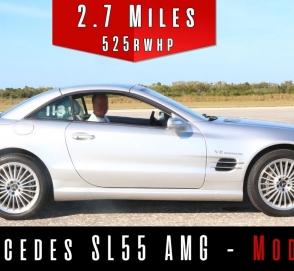 Видео дня: впечатляющий разгон до 315 км/ч на 14-летнем Mercedes AMG