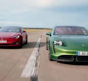 Porsche Taycan вновь «унизил» Tesla