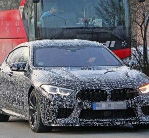 Новый BMW M8 Gran Coupe выкатился на тесты