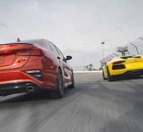 Новую Kia Cerato сравнили в гонке с Lamborghini