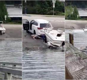 Видеоинструкция: как одновременно утопить и лодку, и автомобиль