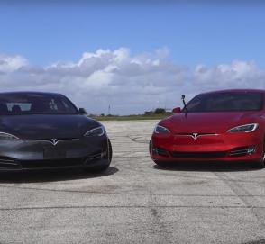 Дешевая и дорогая Tesla сразились в дрэговом заезде