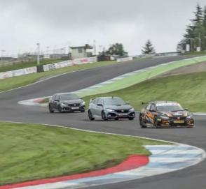 Обычный, «заряженный» и гоночный Honda Civic посоревновались на треке