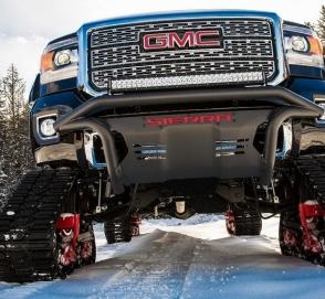 General Motors построил гусеничный пикап для сноубордистов