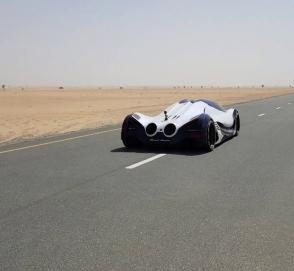 Арабский ответ Bugatti Chiron показали на видео