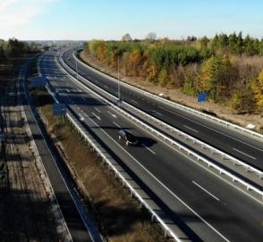 Отремонтированный участок трассы Киев – Харьков показали с высоты птичьего полета