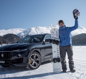 Maserati разогнал сноубордиста до 152 километров в час