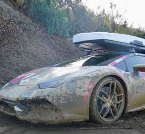 800-сильный Lamborghini устроил заезд по бездорожью