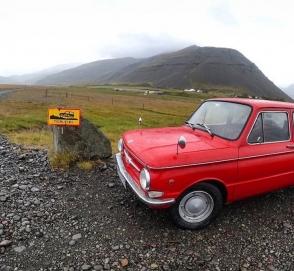Россияне проехали путь от Челябинска до Исландии на старом «Запорожце»