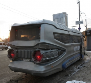 В Украине построили автобус-звездолет