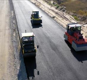 Свежие фотографии с места строительства дороги «с нуля»