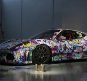 Разукрашенный гоночный Ferrari продадут на аукционе