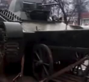 Как пикап танк перевозил