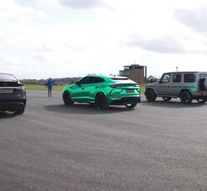 Кто быстрее: Tesla Model X, Lamborghini Urus или взбешенный «Гелик»