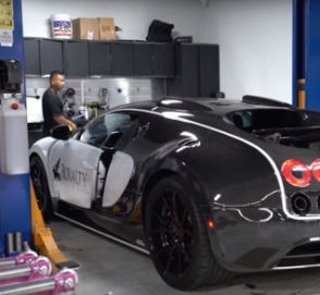 Как менять масло на Bugatti