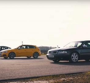 Сможет ли «старушка» Audi S8 навязать борьбу в драг-рейсе новой дизельной A8 и S3
