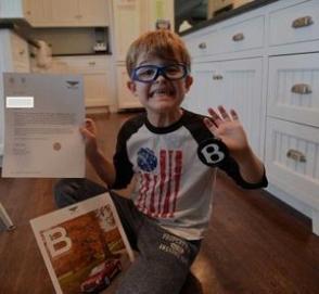 История 6-летнего мальчика написавшего пятидесяти автопроизводителям