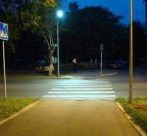 Пешеходные переходы в Украине будут подсвечивать