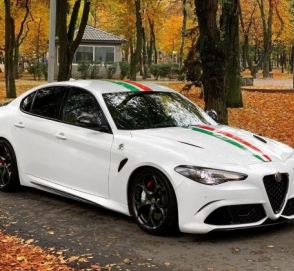 В Украине замечен «заряженный» Alfa Romeo с мотором от Ferrari