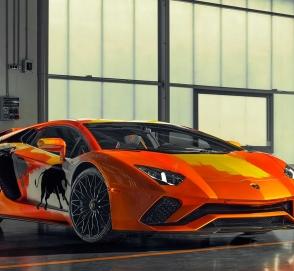 Lamborghini Aventador S превратился в арт-объект