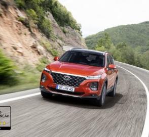 Новый Hyundai Santa Fe успешно справился с краш-тестом