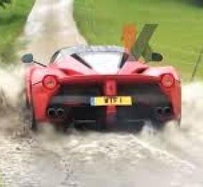 Автомобиль за 3 млн евро загнали в болото