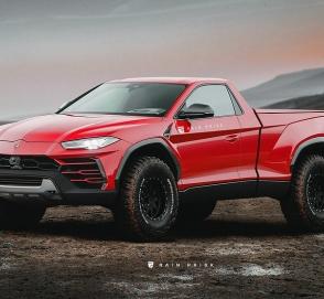 Как будет выглядеть роскошный Lamborghini Urus в кузове пикап