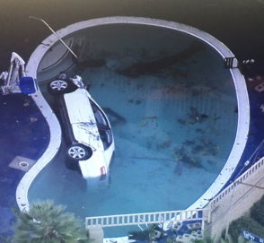 Toyota «припарковалась» в детском бассейне