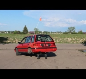 На что способен Honda Civic с колесами от тележки