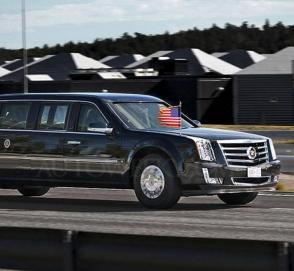 Лимузин Трампа «Зверь» впервые сняли на видео