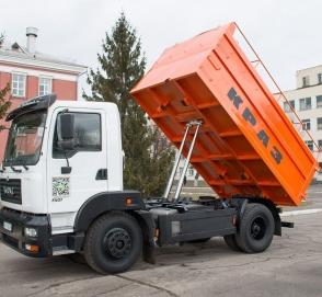 Cамосвал-зерновоз КрАЗ-5401С2 показали в действии