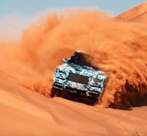 Кроссовер марки Rolls-Royce испытан пустыней