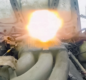 Что будет, если засыпать в двигатель порох