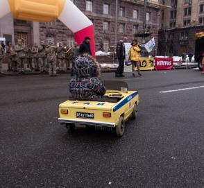 В Украине создан самый маленький бензиновый автомобиль
