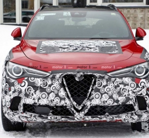Alfa Romeo Stelvio был замечен во время тестов