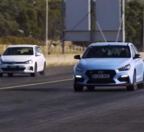 Hyundai i30 N сошелся в гонке против Volkswagen Golf GTI