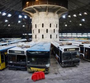 Украинцам показали «кладбище» общественного транспорта