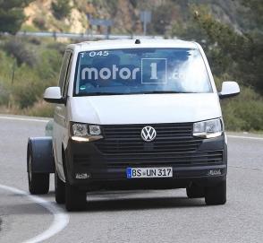 Новый Volkswagen Transporter впервые появился на фото
