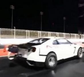 Рекордный заезд 3000-сильного Nissan показали на видео