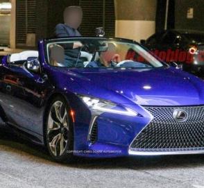 Опубликованы снимки серийной версии кабриолета Lexus LC